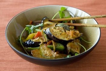 Spicy Stir-Fried Eggplant with Potatoes